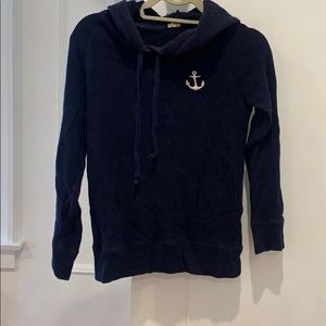 Jcrew navy sweatshirt with anchor